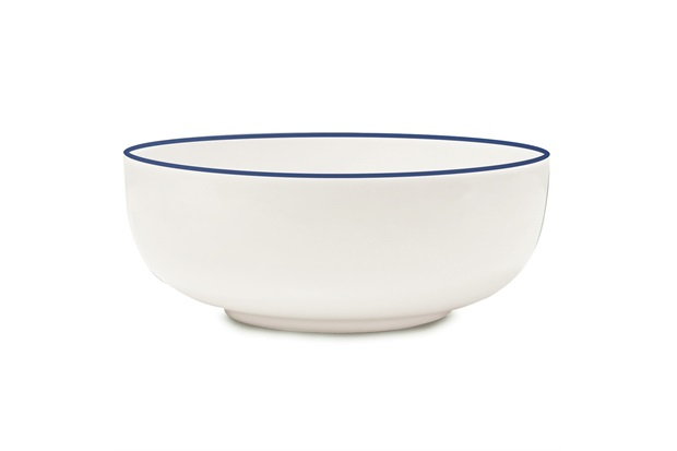 Bowl Cerâmica Klein 623ml Azul E Branca - Corona