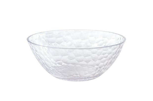 Bowl em Acrílico Martelado 780ml Transparente - Casanova