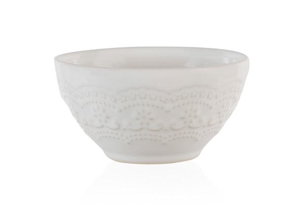 Bowl em Cerâmica Madeleine 12cm Branco - Casa Etna