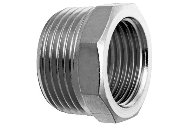 """Bucha de Redução em Metal 3/4x1/2"""" Cromada - Blukit"""