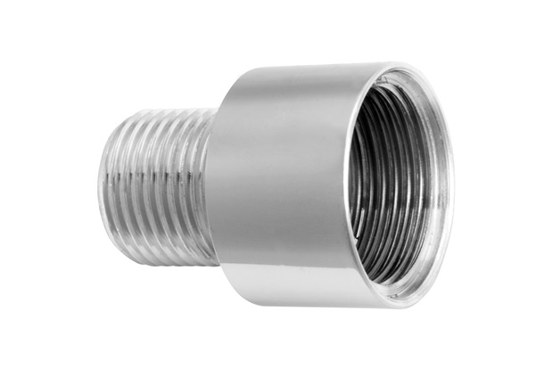 "Bucha de Redução em Metal Invertida 3/4x1/2"" Cromada - Blukit"