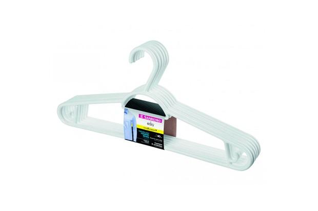 Cabide de Plástico Pendura Mais com 6 Peças Branco - Sanremo