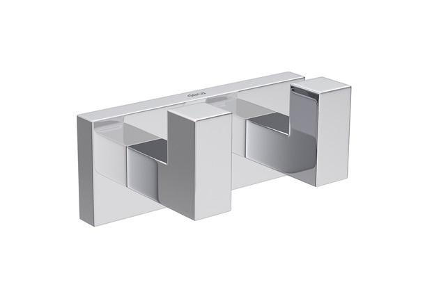 Cabide Duplo Quadratta 10cm Cromado - Deca