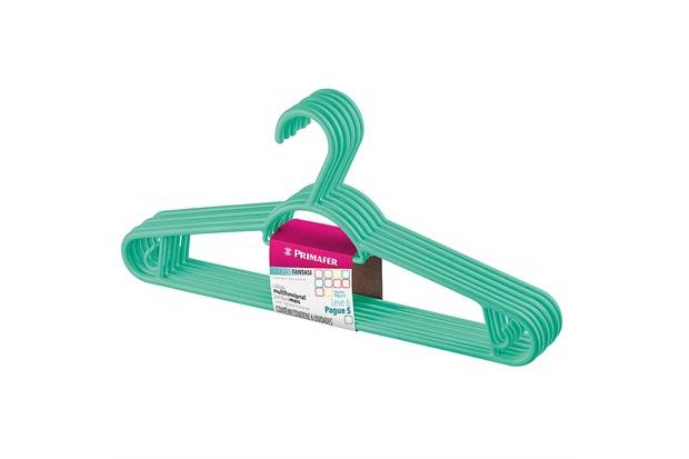 Cabide em Plástico Pendura Mais Verde com 6 Peças - Sanremo