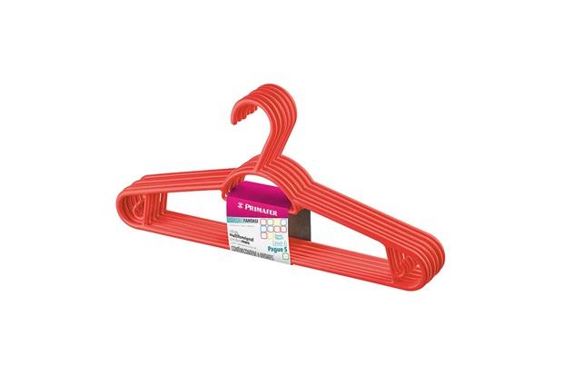 Cabide em Plástico Pendura Mais Vermelho com 6 Peças - Sanremo