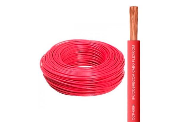 Cabo de Energia 750v 1,5mm² Flexicom Antichama com 100 Metros Vermelho - Cobrecom