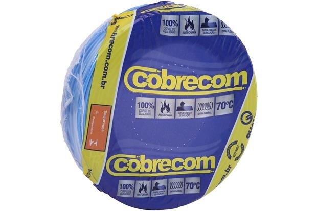 Cabo de Energia 750v 10mm² Flexicom Antichama com 50 Metros Azul - Cobrecom