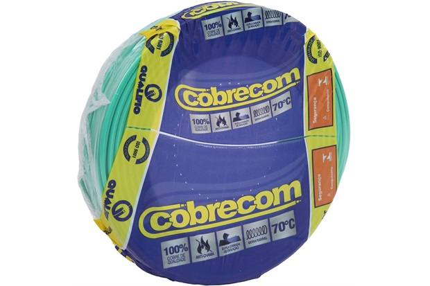Cabo de Energia 750v 10mm² Flexicom Antichama com 50 Metros - Cobrecom