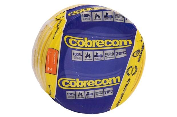 Cabo de Energia 750v 4mm² Flexicom Antichama com 100 Metros Amarelo - Cobrecom