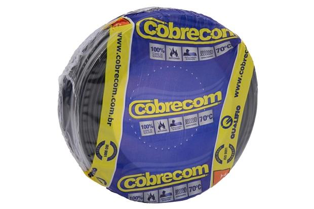 Cabo de Energia 750v 4mm² Flexicom Antichama com 100 Metros Preto - Cobrecom