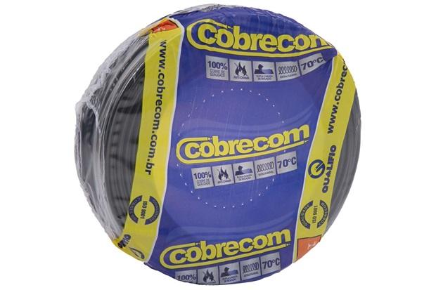 Cabo de Energia 750v 4mm² Flexicom Antichama com 50 Metros Preto - Cobrecom