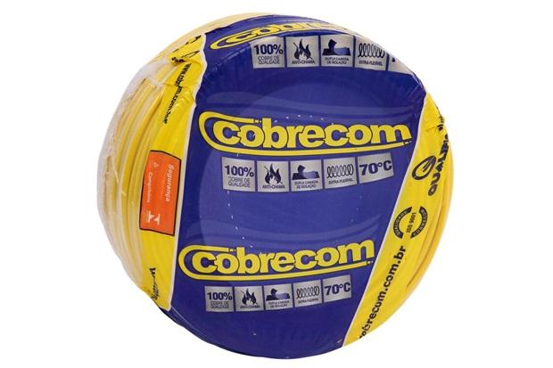 Cabo de Energia 750v 6mm² Flexicom Antichama com 100 Metros Amarelo - Cobrecom