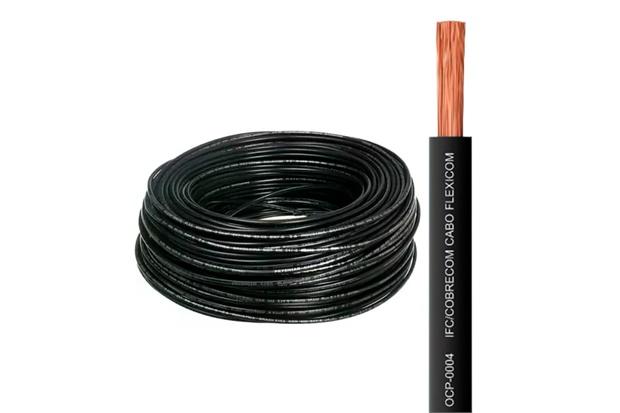 Cabo de Energia 750v 6mm² Flexicom Antichama com 100 Metros Preto - Cobrecom