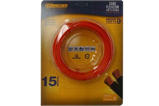 Cabo de Energia 750v 6mm² Flexicom Antichama com 15 Metros Vermelho - Cobrecom