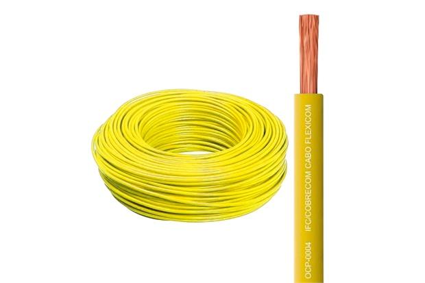 Cabo Flexível 4,0mm com 100 Metros Amarelo - Cobrecom