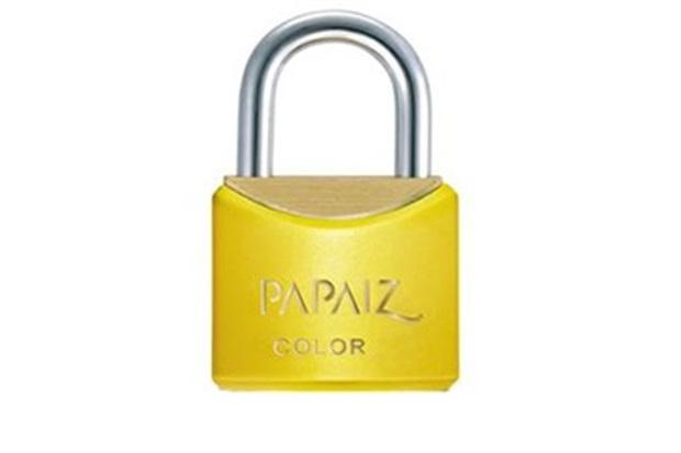 Cadeado em Latão Color Line 20mm Amarelo - Papaiz