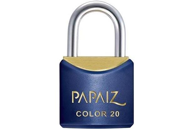 Cadeado em Latão Color Line 20mm Azul - Papaiz