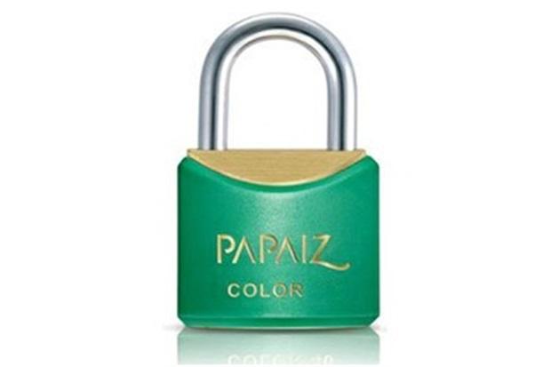 Cadeado em Latão Color Line 20mm Verde - Papaiz