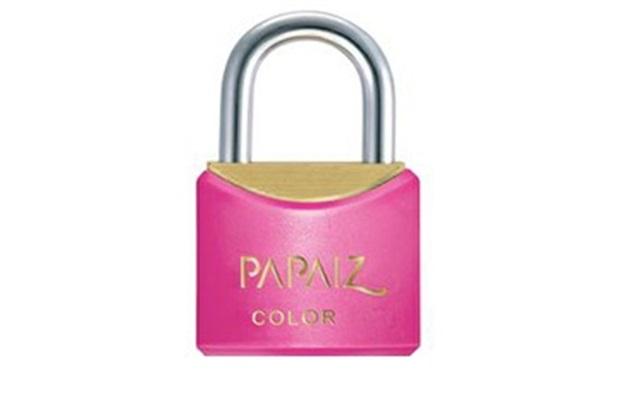 Cadeado em Latão Color Line 25mm Rosa - Papaiz