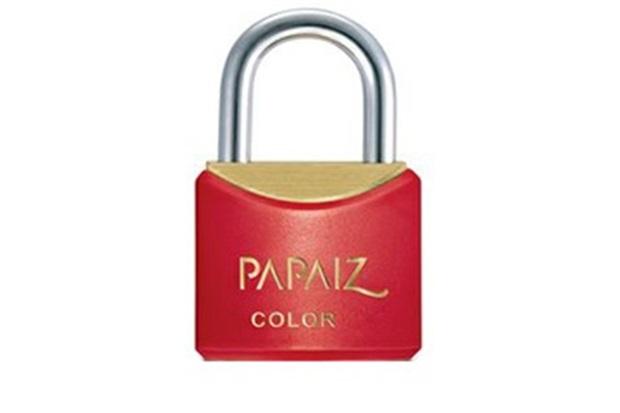Cadeado em Latão Color Line 30mm Vermelho - Papaiz
