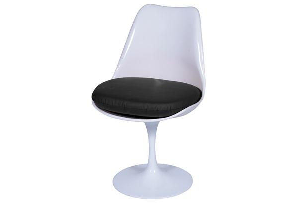 Cadeira Almofadada Saarinen Branca E Preta - Ór Design