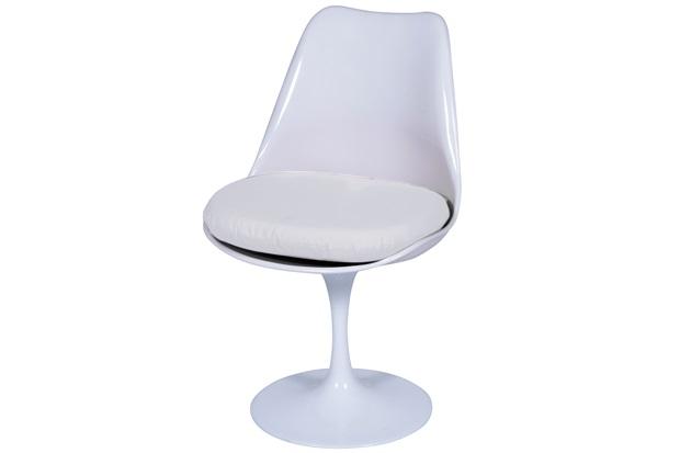 Cadeira Almofadada Saarinen Branca - Ór Design