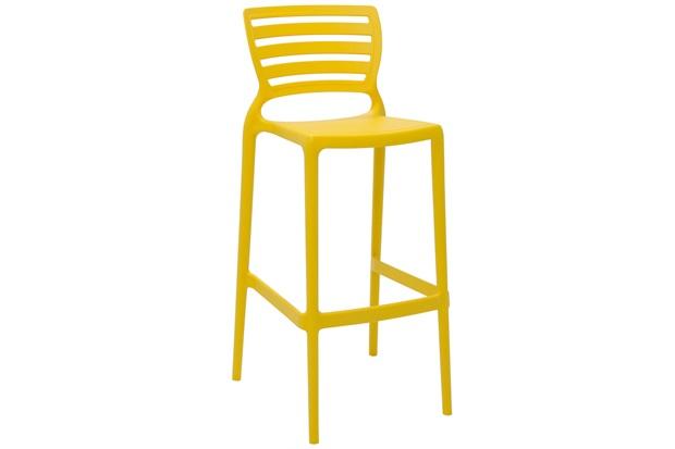 Cadeira Alta em Polipropileno Sofia 104,5x49,5x47cm Amarela - Tramontina