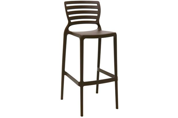 Cadeira Alta em Polipropileno Sofia 104,5x49,5x47cm Marrom - Tramontina