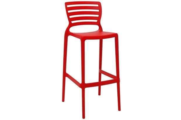 Cadeira Alta em Polipropileno Sofia 104,5x49,5x47cm Vermelha - Tramontina
