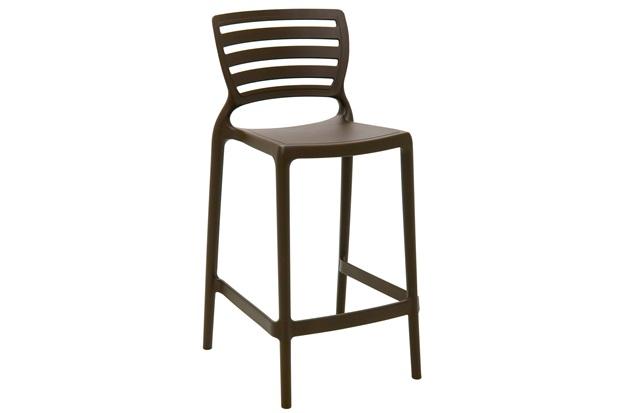 Cadeira Alta em Polipropileno Sofia 93,5x48x47cm Marrom - Tramontina