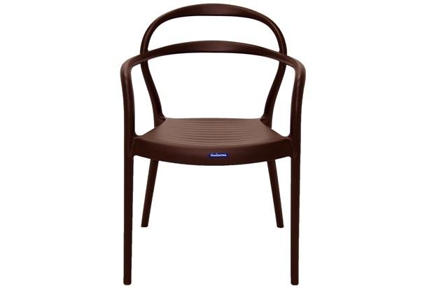 Cadeira com Braços em Polipropileno Sissi 79x58x51,5cm Marrom - Tramontina