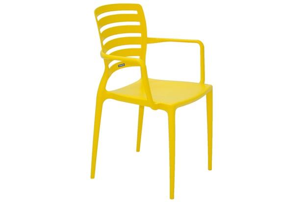 Cadeira com Braços Sofia Amarela - Tramontina