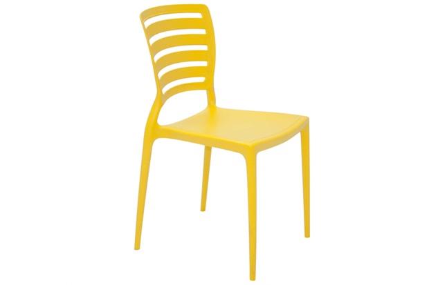 Cadeira com Encosto Vazado Sofia Amarela - Tramontina
