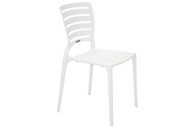 Cadeira com Encosto Vazado Sofia Branca - Tramontina