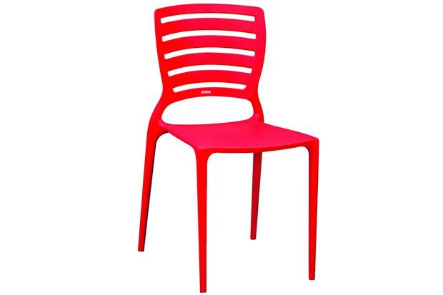 Cadeira com Encosto Vazado Sofia Vermelha - Tramontina