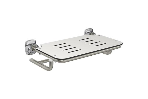 Cadeira de Banho em Aço Conforto 56,8x43cm Escovada - Deca