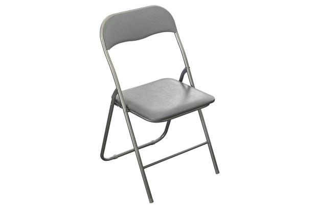 Cadeira Dobrável 79,5x44cm Cinza - Casanova