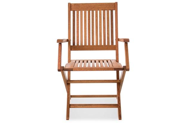 521f2203fd53b Cadeira Dobrável em Madeira com Braço Arpoador Jatobá - Casa Etna