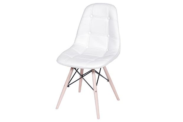 Cadeira Eames Botonê com Base em Madeira 43x44cm Branca - Ór Design