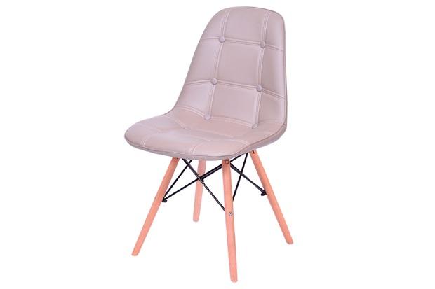 Cadeira Eames Botonê com Base em Madeira 43x44cm Fendi - Ór Design