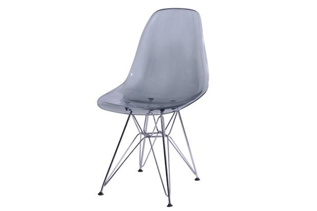 Cadeira Eames com Base de Metal Fumê - Ór Design