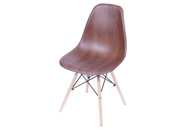 Cadeira Eames com Base em Madeira 46x46,5cm Wood Escura - Ór Design