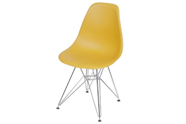 Cadeira Eames com Base em Metal 46x46,5cm Açafrão - Ór Design