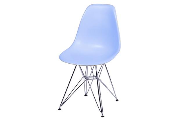 Cadeira Eames com Base em Metal 46x46,5cm Azul Clara - Ór Design
