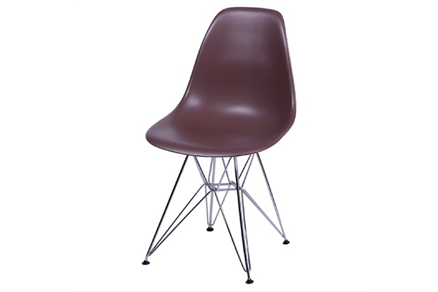 Cadeira Eames com Base em Metal 46x46,5cm Café - Ór Design