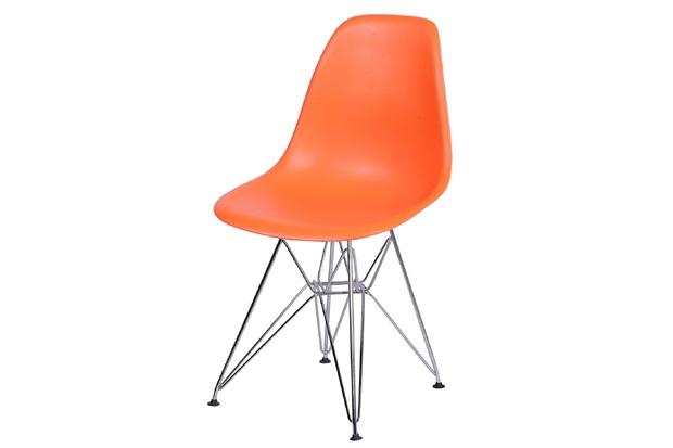Cadeira Eames com Base em Metal 46x46,5cm Laranja - Ór Design