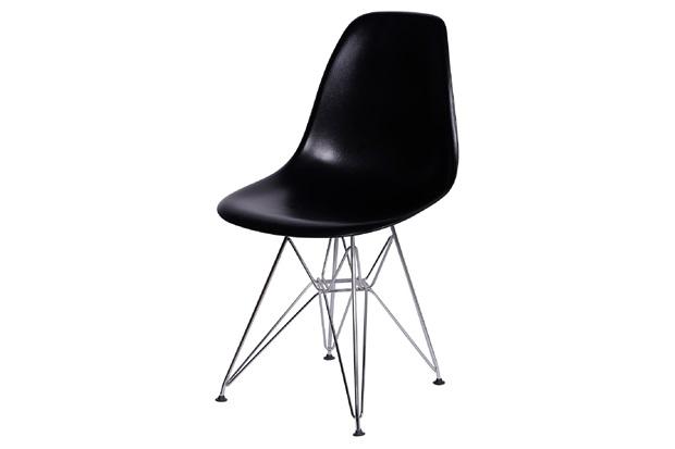 Cadeira Eames com Base em Metal 46x46,5cm Preta - Ór Design