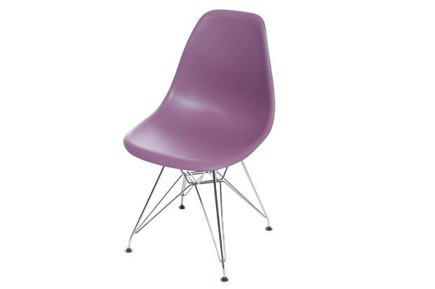 Cadeira Eames com Base em Metal 46x46,5cm Roxa - Ór Design