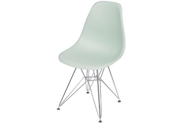 Cadeira Eames com Base em Metal 46x46,5cm Verde Clara - Ór Design
