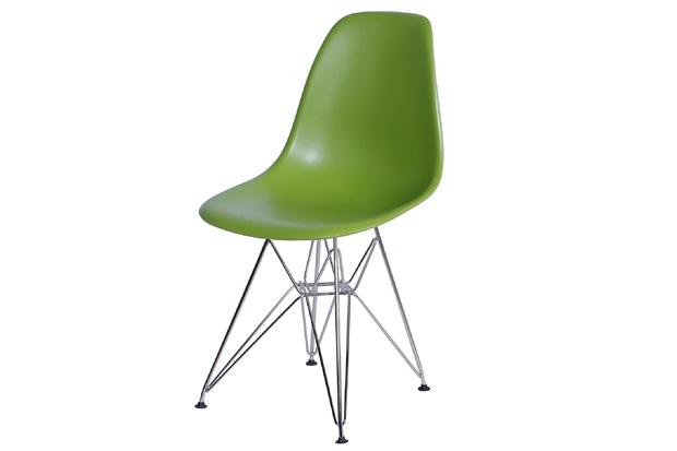 Cadeira Eames com Base em Metal 46x46,5cm Verde - Ór Design